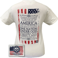 Girlie Girl Originals USA Flag Pledge Allegiance America Vintage Bright T Shirt