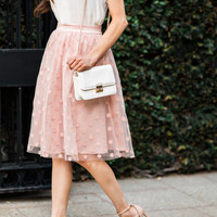 Courtney Polka Dot Pink Tulle Skirt