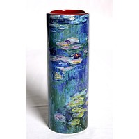 Monet Waterlilies Ceramic Flower Small Vase 7H