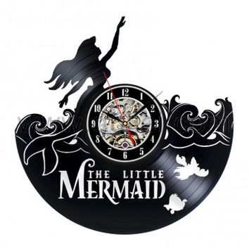 Mermaid Creative Design Vinyl Wall Clock