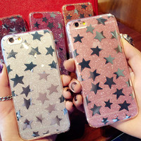 Hot Shining Stars Case for iPhone 7 7Plus & iPhone se 5s 6 6 Plus Best Protection Cover +Gift Box-534