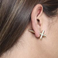 Cross Front Back Earring | Shop Jewelry at Wet Seal