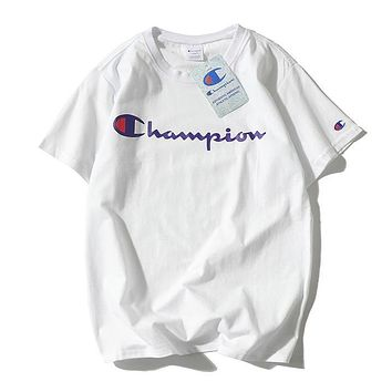 Champion Woman Men Fashion Print Tunic Shirt Top Blouse